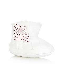 J by Jasper Conran - Baby girls' white quilted faux fur booties