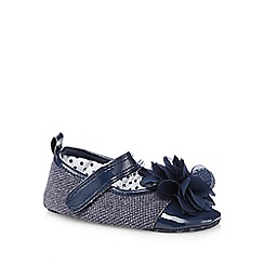 J by Jasper Conran - Babies navy corsage shoes