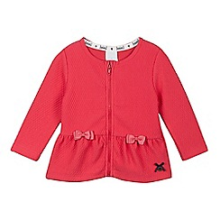 J by Jasper Conran - Baby girls' pink quilted peplum zip jacket