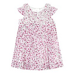 RJR.John Rocha - Designer babies pink ditsy floral pleated dress
