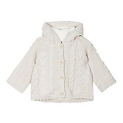 RJR.John Rocha - Designer babies cream chunky cable knit cardigan