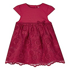 RJR.John Rocha - Designer babies pink embroidered floral skirt dress