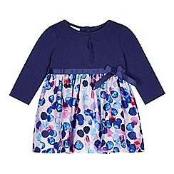 RJR.John Rocha - Designer babies navy spotted skirt dress