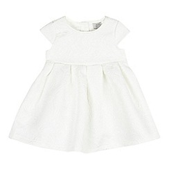 RJR.John Rocha - Baby girls' white jacquard patterned dress