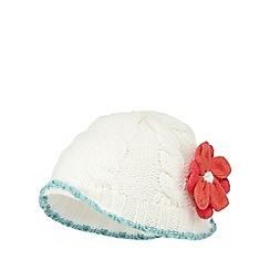 RJR.John Rocha - Baby girls' cream corsage beanie hat