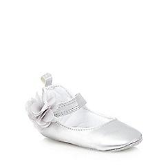 RJR.John Rocha - Babies silver floral shimmer shoes