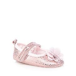 RJR.John Rocha - Babies pink floral shimmer shoes