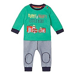 bluezoo - Baby boys' 'Little Hero' fire truck top and joggers set