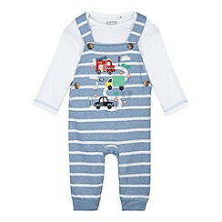 bluezoo - Baby boys' blue two piece dungarees set