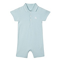 bluezoo - Baby boys' blue polo collar romper suit