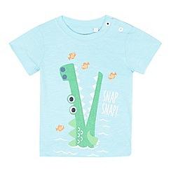 bluezoo - Baby boys' light blue crocodile print t-shirt