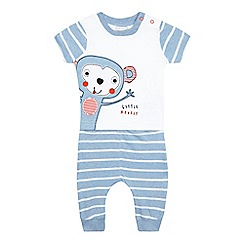 bluezoo - Baby boys' white monkey applique top t-shirt and bottoms set