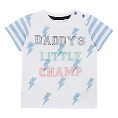 bluezoo - Baby boys' white  daddy's little champ' t-shirt