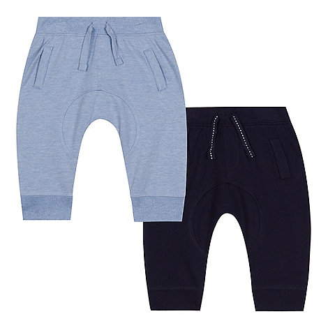 bluezoo - Baby boys+ pack of two navy jogging bottoms