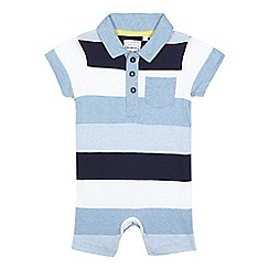 bluezoo - Baby boys' navy striped polo romper suit