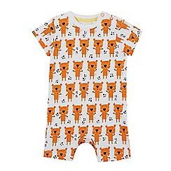 bluezoo - Baby boys' grey tiger print romper