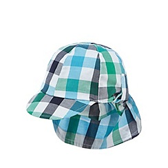 bluezoo - Baby boys' green checked print keppi hat