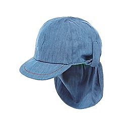 bluezoo - Baby boys' blue chambray keppi hat