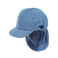 bluezoo - Baby boys' blue chambray keppi hat