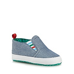 bluezoo - Baby boys' blue chambray booties