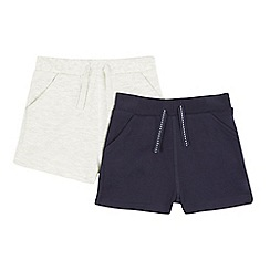 bluezoo - Pack of two baby boys' navy and grey shorts