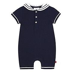 J by Jasper Conran - Baby boys' navy jersey romper suit