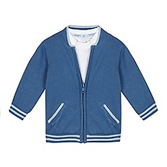 J by Jasper Conran - Baby boys' blue cardigan and t-shirt set