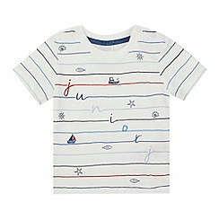 J by Jasper Conran - Baby boys' white striped sea print t-shirt