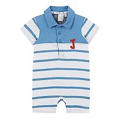 J by Jasper Conran - Baby boys' blue striped romper