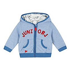 J by Jasper Conran - Baby boys' blue fine stripe zip through hoodie