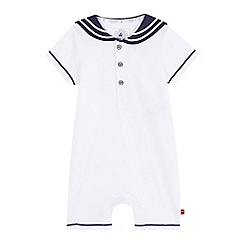 J by Jasper Conran - Baby boys' white sailor romper suit
