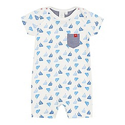 J by Jasper Conran - Baby boys' white all-over boat print romper suit