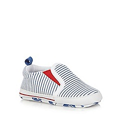 J by Jasper Conran - Baby boys' white striped booties