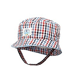 J by Jasper Conran - Baby boys' multi-coloured gingham print fisherman hat