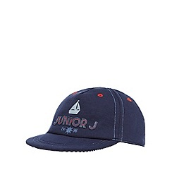 J by Jasper Conran - Baby boys' navy logo applique cap
