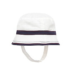 J by Jasper Conran - Baby boys' white striped hat
