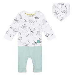 RJR.John Rocha - Baby boys' white animal mock romper and bib set