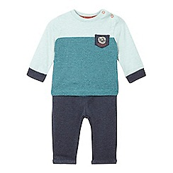 RJR.John Rocha - Baby boys' green and grey lion top and jogging bottoms set