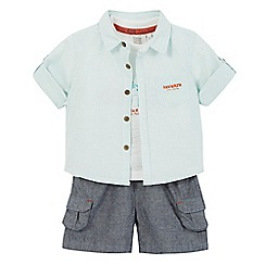 RJR.John Rocha - Baby boys' light green shirt, t-shirt and shorts set