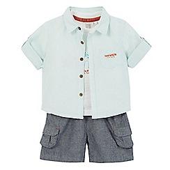 RJR.John Rocha - Baby boys' light green shirt, t-shirt and shorts set