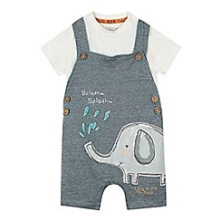 RJR.John Rocha - Baby boys' light green elephant applique dungarees and cream t-shirt set