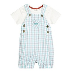 RJR.John Rocha - Baby boys' green gingham checked dungarees and t-shirt set