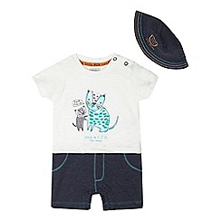 RJR.John Rocha - Baby boys' cream tiger romper and hat set