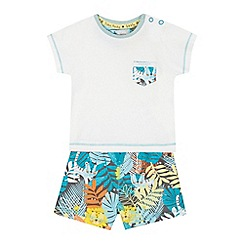 RJR.John Rocha - Baby boys' white jungle print t-shirt and shorts set