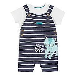 RJR.John Rocha - Baby boys' navy tiger applique dungarees and t-shirt set