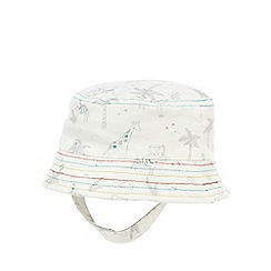 RJR.John Rocha - Baby boys' white animal print fisherman hat