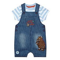 The Gruffalo - Baby boys' blue 'Gruffalo' denim dungarees