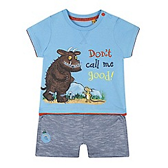 The Gruffalo - Baby boys' blue 'Gruffalo' slogan print t-shirt and shorts set