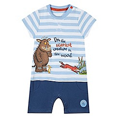 The Gruffalo - Baby boys' blue 'Gruffalo' print romper suit