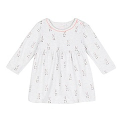 bluezoo - Baby girls' grey bunny print dress